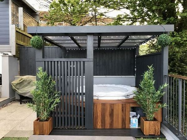 35 Cozy Outdoor Hot Tub Cover Ideas You Can Try Home Design And Interior Hot Tub Backyard Hot Tub Garden Hot Tub Outdoor