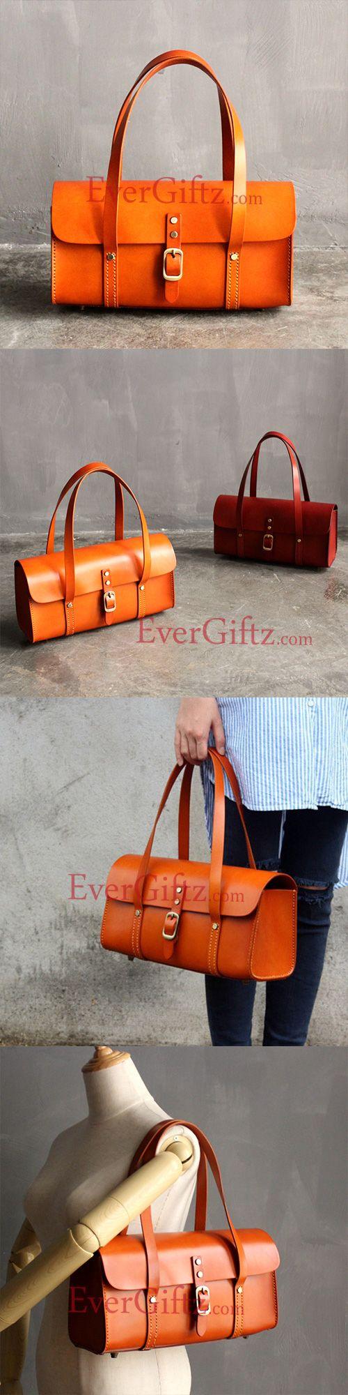 Handmade leather vintage women handbag shoulder bag shopper bag