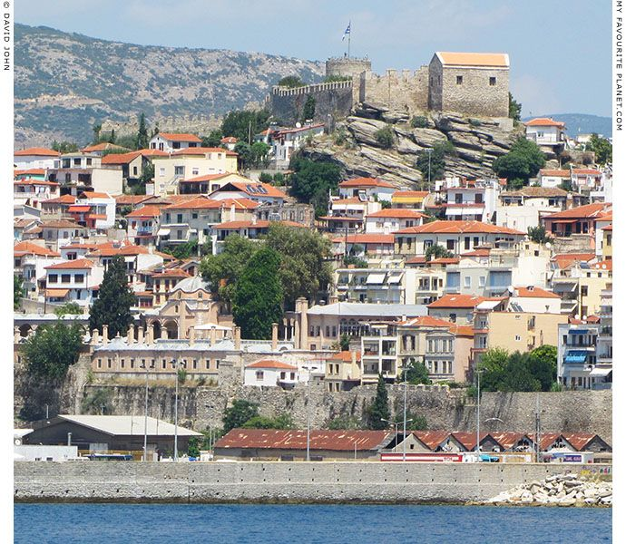 The Kastro viewed from Kavala's main harbour at My Favourite Planet - Macedonia Greece