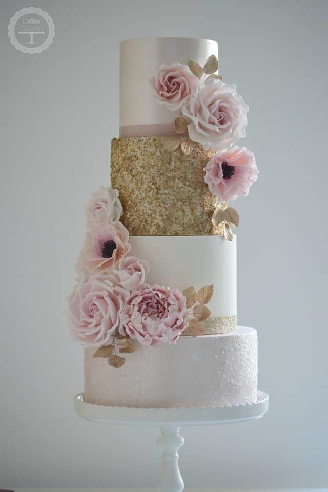 15 amazing blush wedding cakes - wedding cakes - cuteweddingideas.com