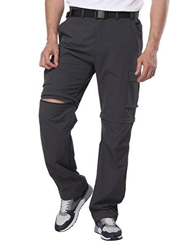 7ea412c99f3be MIER Men's Convertible Pants Quick Dry Cargo Pants Lightweight Comfort  Stretch Hiking Travel, 7 Pockets, Graphite Grey, M   Hiking & Camping   Cargo  Pants, ...