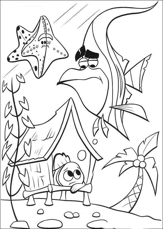 Disegni da colorare per bambini. Colorare e stampa Alla ricerca di Nemo 33