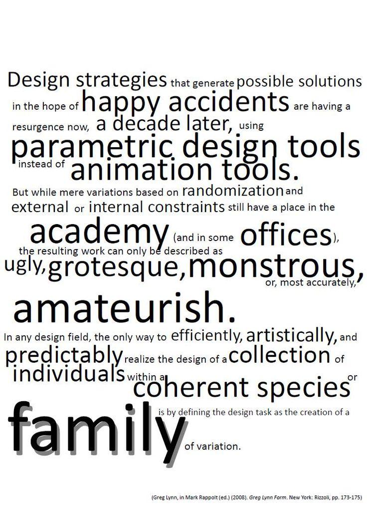 Greg Lynn about control in parametric/generative design.