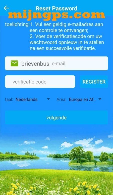 setracker reset account login password