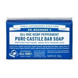 Peppermint Pure Castile Bar Soap, 140g : P'LOVERS