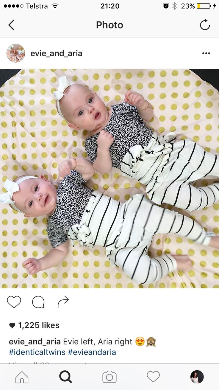 The Guidolin twins chilling on their Bambella Designs playmat :)
