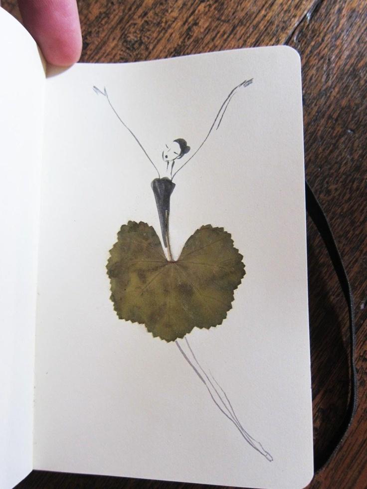 Un herbier illustré herbier feuille illustration 01 design bonus art