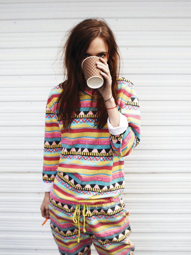 pajamas and coffee