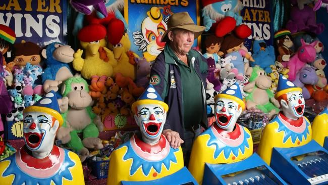 """Fifth generation showman Tom Baker says he wouldn't change his carnie lifestyle """"for quids"""". Picture: David Kelly Source: News Limited. http://www.couriermail.com.au/news/queensland/longtime-carnies-share-why-they-love-their-colourful-lifestyle/story-fnihsrf2-1226690411803"""