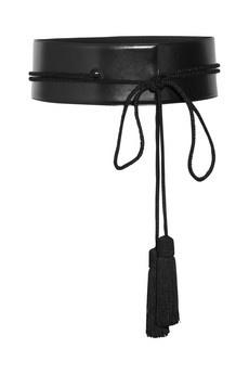 SAINT LAURENT Tasseled leather belt