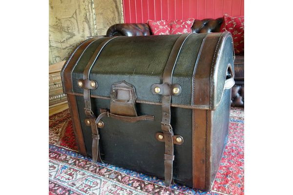 Victorian Dome Top Carriage Trunk | Vinterior   #industrial #trunk