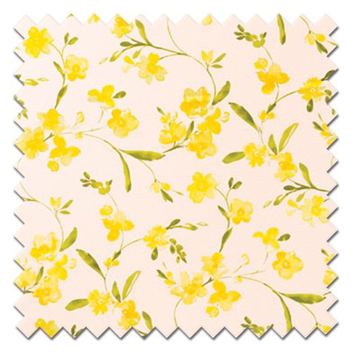 Fryetts Rosemarie Yellow Roman Blind