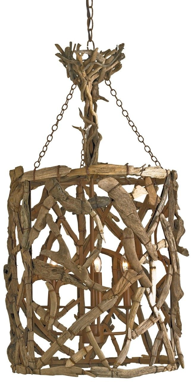 Driftwood Lantern Chandelier from Currey and Co.