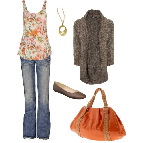 56 best grey/orange outfits images on Pinterest
