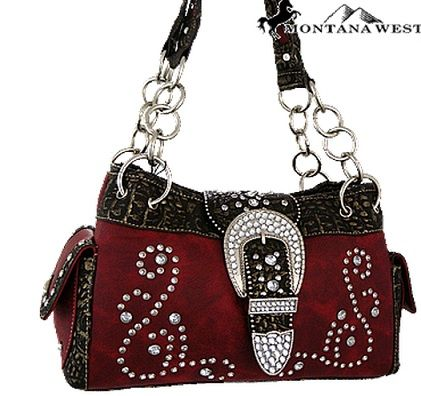 Concealed Weapons Buckle Purse Red   Country Bling