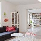 Stylish corner apartment with a bright interior décor