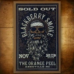 Silkscreened Orange Peel SOLD OUT Beard Poster