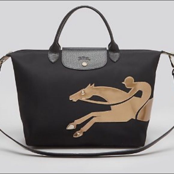 New Authentic Longchamp Limited Edition Bag New without tags. Auth Longchamp Medium Duffel Bag. Base length 12.25 inches. Top length 16 inches. Height 11 inches. Depth 6.75 inches. Limited edition. NOT TRADING. PRICE IS FIRM. Longchamp Bags