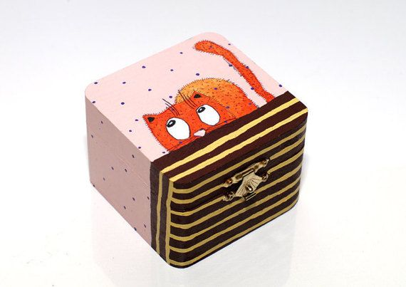 Hand painted box - Wooden trinket box - Painted small wooden box - Painted trinket box - Jewellery box wooden - Wood box - Small jewelry box Keepsake