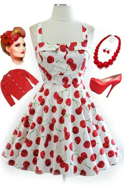 Just restocked in ALL sizes at le bomb shop! Find it here: http://www.ebay.com/itm/50s-Style-WHITE-CHERRY-Bombshell-PINUP-Full-Skirt-PULL-UP-CHERRY-Sun-Dress-/120970340727?pt=US_CSA_WC_Dresses==item61cf4ba53c