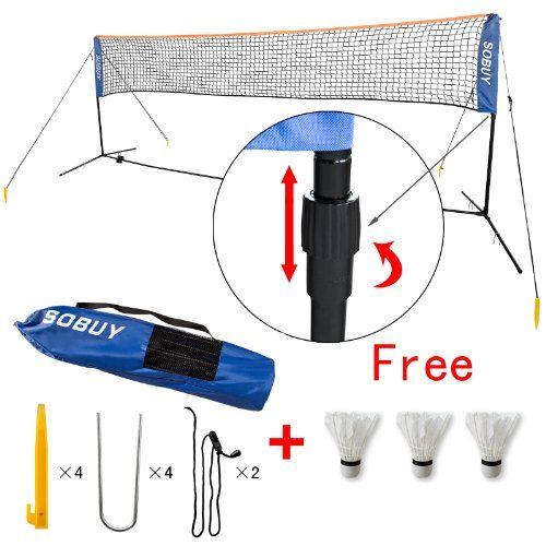 Height Adujstable Badminton Net , Tennis Volleyball Net with Stand / Frame (SFN02 (Lengthen: 400cm)) SoBuy http://www.amazon.com/dp/B0090WBFLW/ref=cm_sw_r_pi_dp_820Bub1ECA2S8