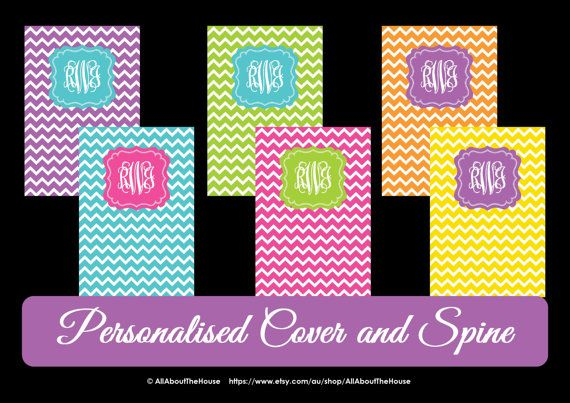 5 Monogram Printable Binder Cover and spine -Chevron-Personalised -Monogram Binder Cover-Monogram Stationery-Preppy-Back to School Available from: https://www.etsy.com/au/listing/161170917/5-monogram-printable-binder-cover-and?ref=shop_home_active