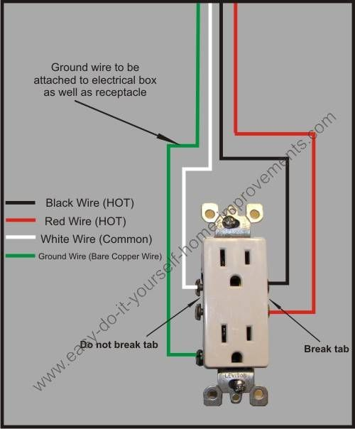 split plug wiring diagram in 2019 | diy | home electrical wiring, electrical  outlets, house wiring