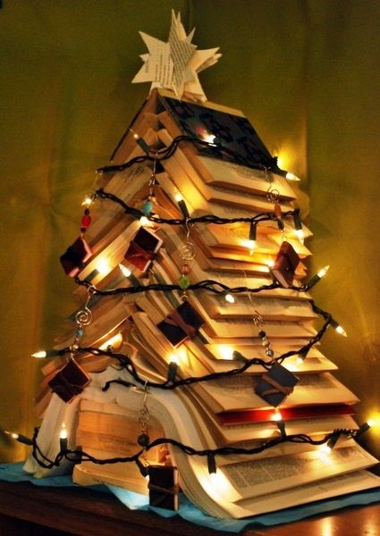 Christmas Book Tree.