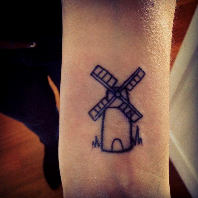 dutch windmill tattoo the image kid has it. Black Bedroom Furniture Sets. Home Design Ideas