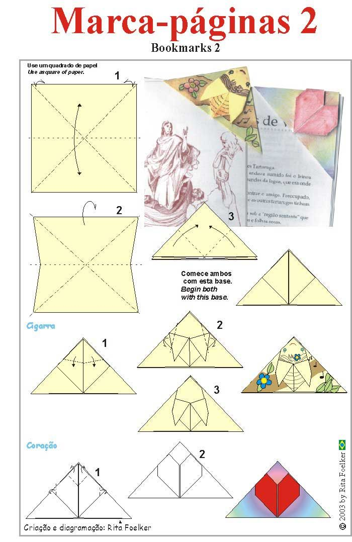 104 Best Images Marque Page Rh Com Origami Butterfly Bookmark Diagram Cat