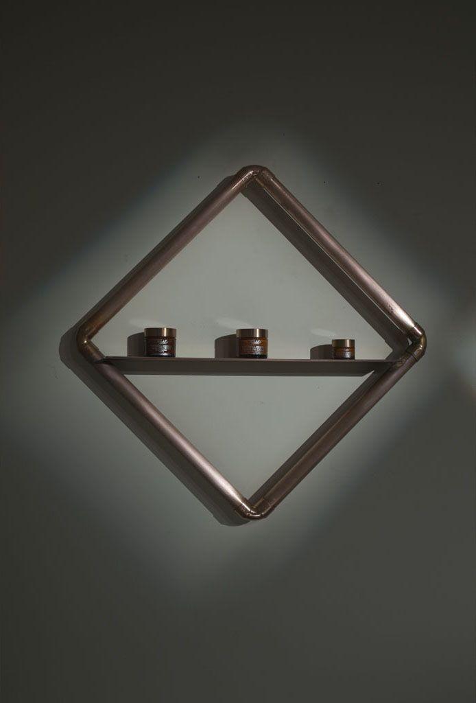 INTERIOR DESIGN / www.alexanderfresh.com triangle, copper, light, khiels, structure