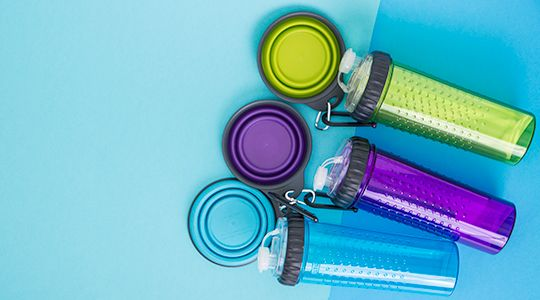 how to make a portable pet water bottle holder