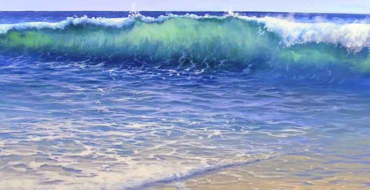 Get the full length 1hr 17min video tutorial at http://learn.muraljoe.com In this video, Joe works with acrylics and shows you how he paints crashing waves, ...