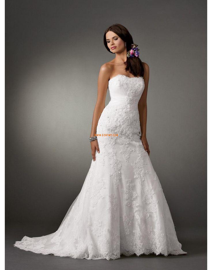 Sans bretelles Brillant & Séduisant Décolleté dans le dos Robes de mariée Designer