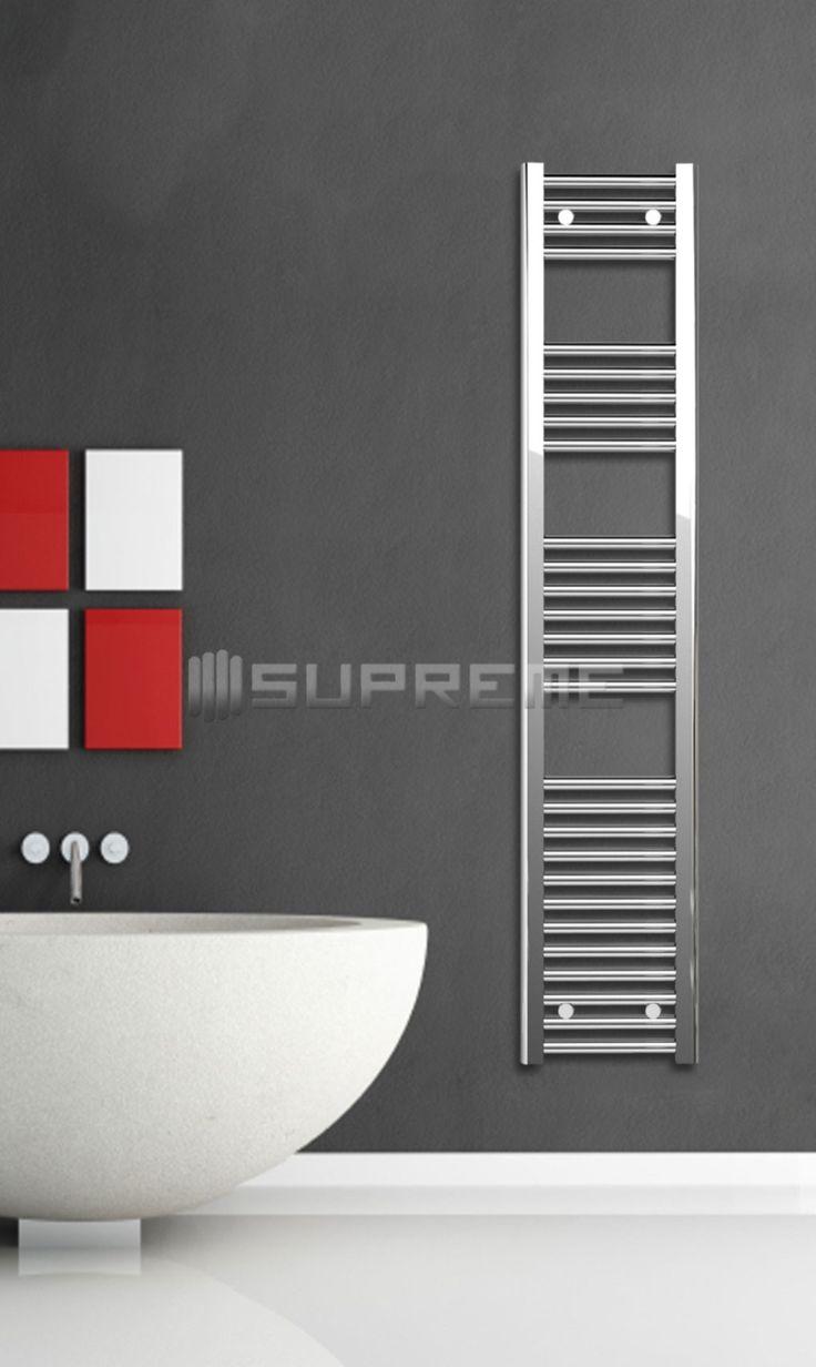Chrome Towel Radiator 300x1500mm - Supreme Towel Radiators