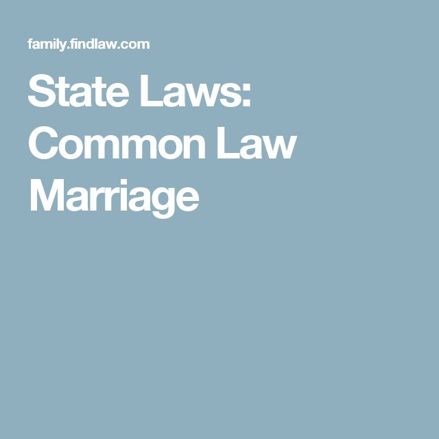 what does common law mean in marital status