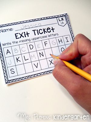 If you thought exit tickets were just for the older grades, check out these…