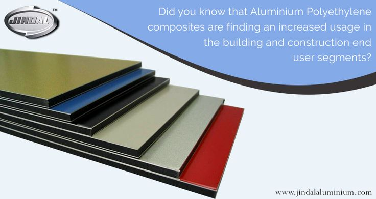 #AluminiumTrends:  Did you know that aluminium polyethylene composites are finding an increased usage in the building and construction end user segments?  In fact, the building and construction sector is one of those segments that has begun to rely heavily on aluminium and is a major consumer for aluminium extruded products.   #JAL | #AluminiumTrends