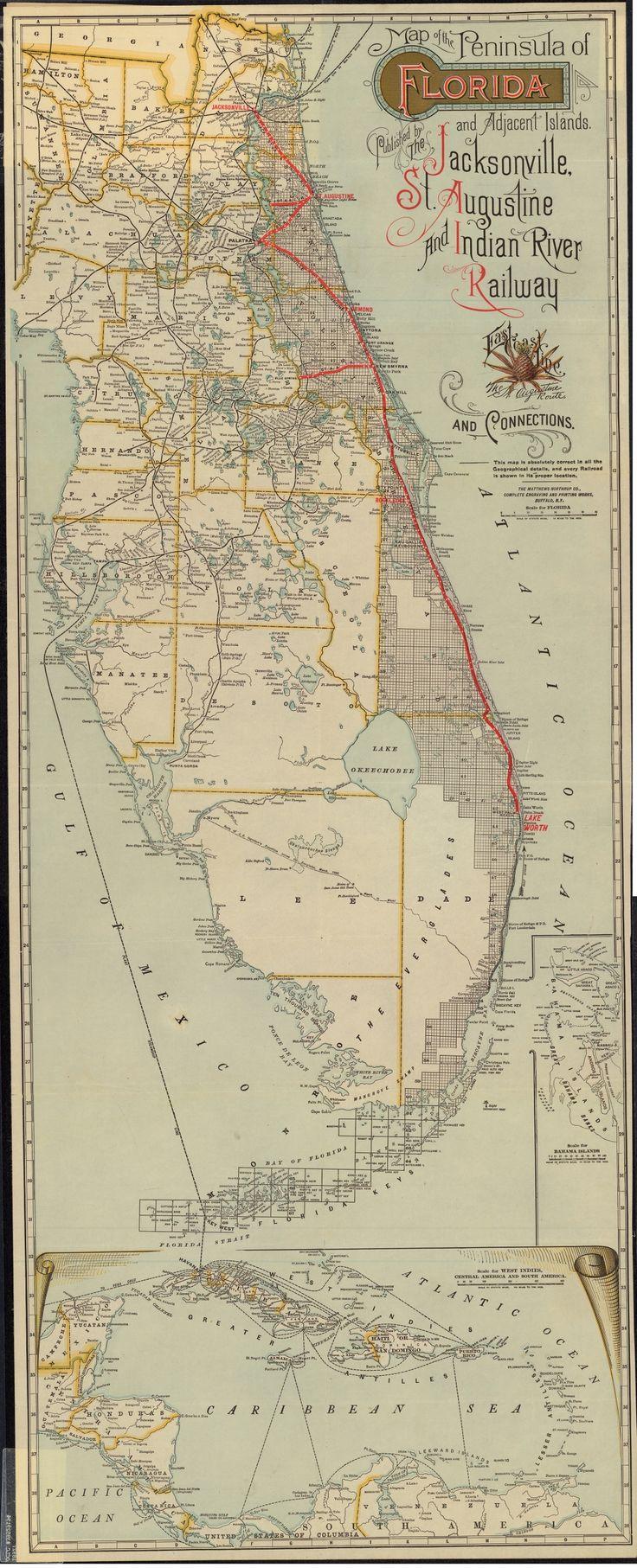 Florida Memory - East Coast Line: Florida Peninsula, 1892