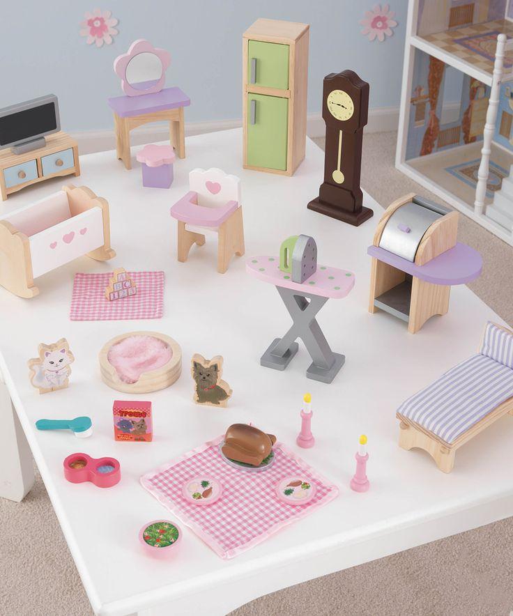 Look at this #zulilyfind! KidKraft Dollhouse Furniture Set by KidKraft #zulilyfinds