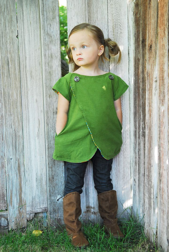 The Lucy Top {New Pattern} - Shwin&Shwin (these crossover trips are TOO CUTE! It's a cold-weather version of those crossover pinafore dresses.)