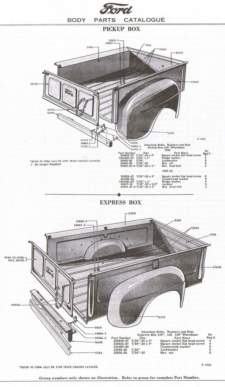 Truck Bed Size Chart >> Steel fenders for 51-52... - Ford Truck Enthusiasts Forums | Ford pickup trucks, Pickup trucks ...