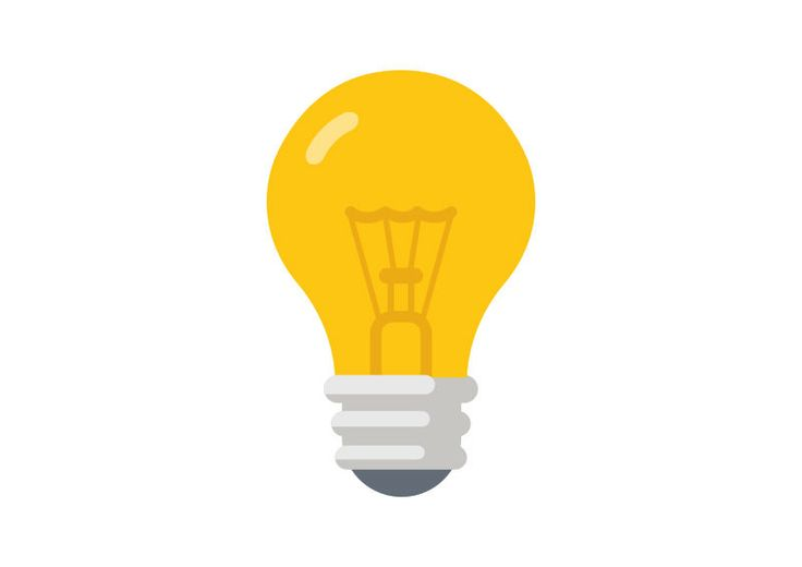 Flat Light Bulb Vector
