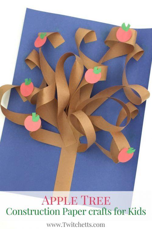 Este árbol de papel de las construcciones es un arte de papel de la construcción de la diversión 3d.  Cree todas las estaciones con sólo cambiar las manzanas de flores, hojas verdes, hojas de otoño, o dejarlos desnudos.