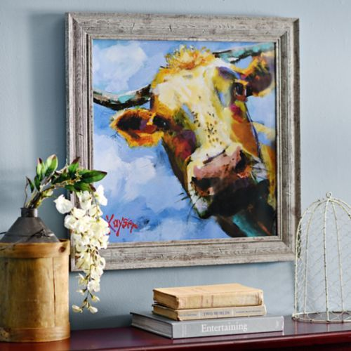Colorful Cow Framed Art Print Products Art And Cow