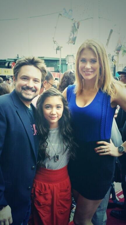 Will at Mary Poppin's 50th Anniversary with Maitland Ward and Rowan Blanchard.