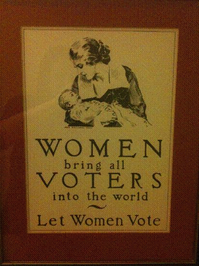 Women are responsible for bringing all humans into the world yet they were denied the vote for so long. It wasn't until 1920 that women won the right to vote. This is why it is so important for all women to get to the polls and honor those who fought so hard to get us to where we are today.