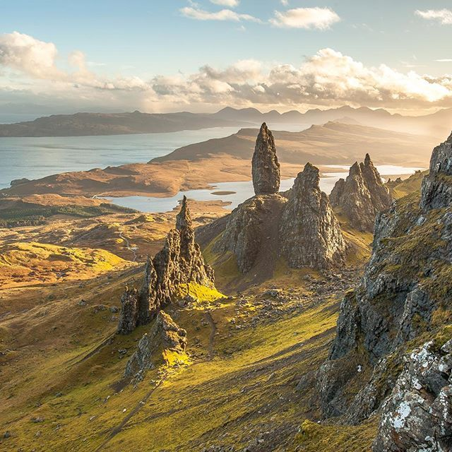 The Old Man of Storr in all its golden glory.  One thing that absolutely astounded me about Skye was the light. This time of year the sun stays so low, resulting in all these magical shadows and piercing golden rays.  I'm heading back in just over a month and I'm bursting at the seams with excitement!