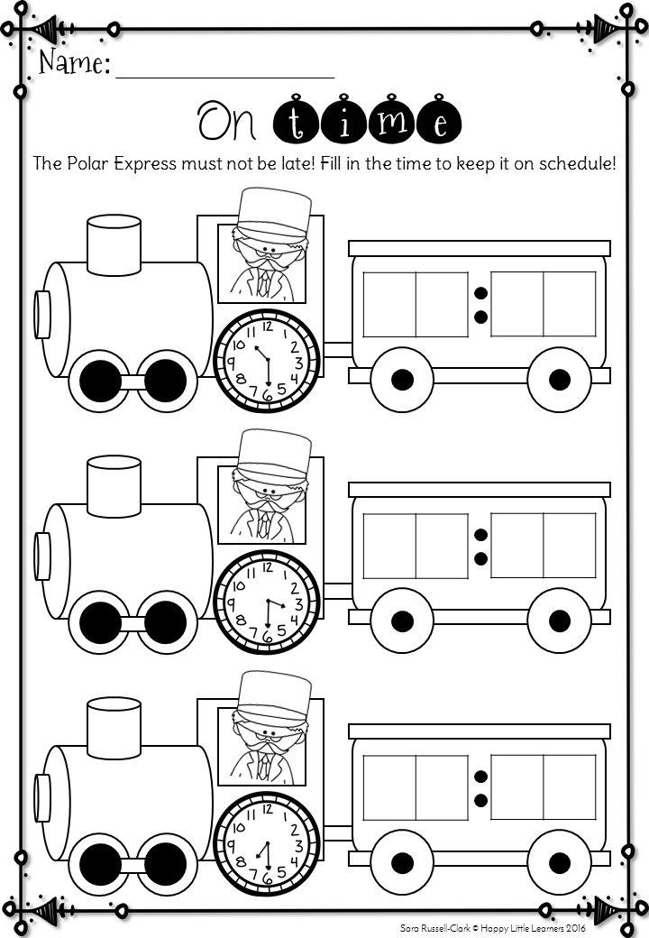 Math Worksheets » Polar Express Math Worksheets