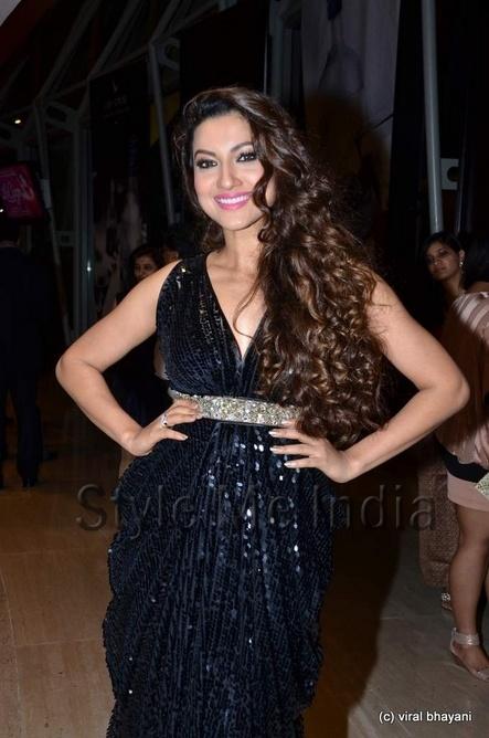 Gauhar Khan in shimmer Pria Kataria Puri gown at IIFA Rocks 2012 http://shar.es/qPESo